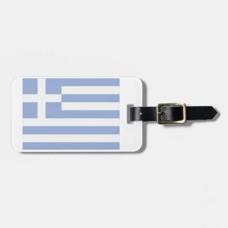 Etiqueta De Bagagem Tag grego da bagagem da bandeira