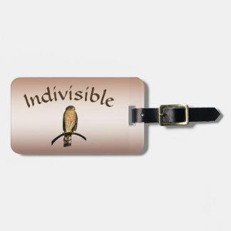 Etiqueta De Bagagem Tag indivisível da bagagem do falcão de Brown