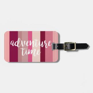 Etiqueta De Bagagem Tag listrado da bagagem do tempo da aventura