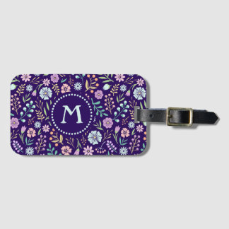 Etiqueta De Bagagem Tag lunático floral da bagagem do teste padrão de
