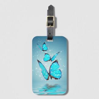 Etiqueta De Bagagem Tag mágico da bagagem das borboletas