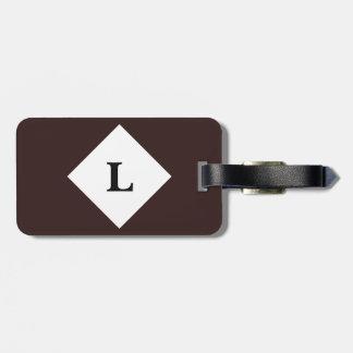 Etiqueta De Bagagem Tag marrom personalizado da bagagem da cor