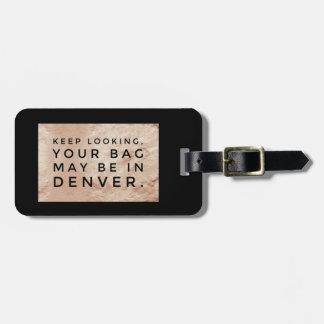 Etiqueta De Bagagem Tag metálico minimalista engraçado moderno do saco