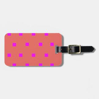 Etiqueta De Bagagem Tag moderno cor-de-rosa da bagagem dos quadrados
