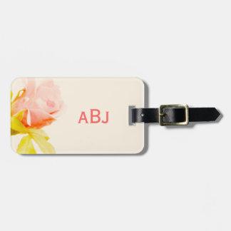 Etiqueta De Bagagem Tag Monogrammed da bagagem do rosa do rosa