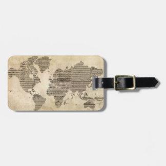 Etiqueta De Bagagem Tag musical da bagagem do mundo