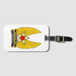Etiqueta De Bagagem Tag oficial da bagagem da sociedade do ar de