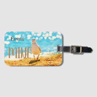 Etiqueta De Bagagem Tag personalizado da bagagem com gaivota