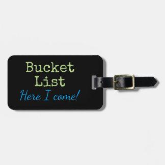 Etiqueta De Bagagem Tag personalizado da bagagem da viagem da lista do