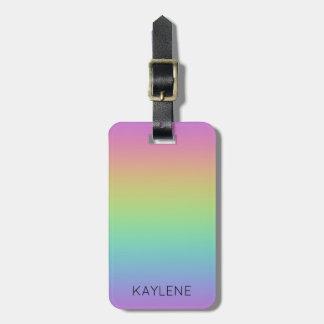 Etiqueta De Bagagem Tag personalizado da bagagem do arco-íris