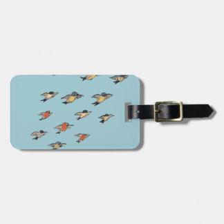 Etiqueta De Bagagem Tag personalizado da bagagem do design do pássaro