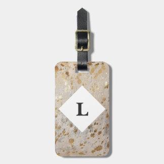Etiqueta De Bagagem Tag personalizado da bagagem do impressão do couro