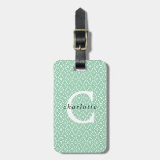 Etiqueta De Bagagem Tag personalizado moderno da bagagem da folha de