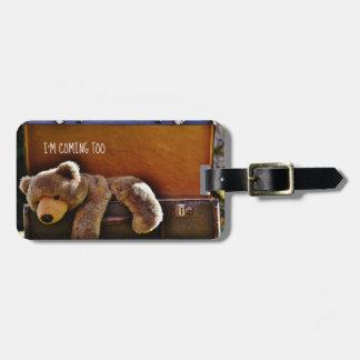 Etiqueta De Bagagem TAG personalizado TeddyBear bonito da bagagem