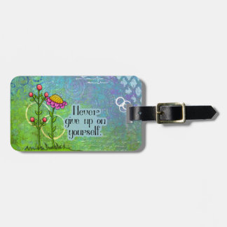 Etiqueta De Bagagem Tag positivo adorável da flor do Doodle do