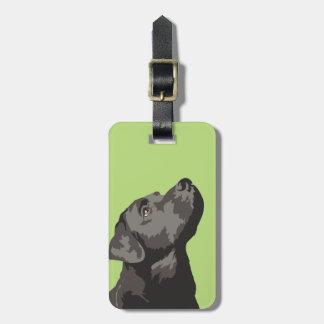 Etiqueta De Bagagem Tag preto da bagagem de Labrador (escolha sua cor)