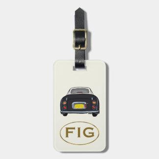 Etiqueta De Bagagem Tag preto da bagagem do carro de Nissan Figaro