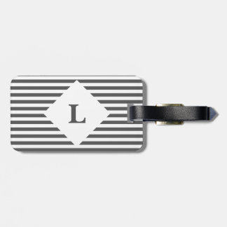 Etiqueta De Bagagem Tag preto e branco personalizado da bagagem das