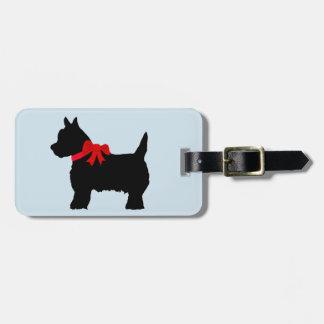 Etiqueta De Bagagem Tag preto pequeno da bagagem do terrier