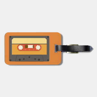 Etiqueta De Bagagem Tag retro da bagagem da cassete de banda magnética
