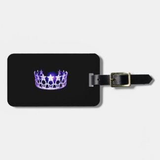 Etiqueta De Bagagem Tag roxo da bagagem da coroa da senhorita EUA