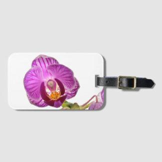 Etiqueta De Bagagem Tag roxo da bagagem da orquídea