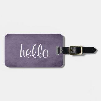 Etiqueta De Bagagem Tag roxo Textured chique da bagagem