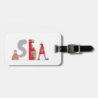 Etiqueta De Bagagem Tag | SEATTLE da bagagem, WA (MAR)