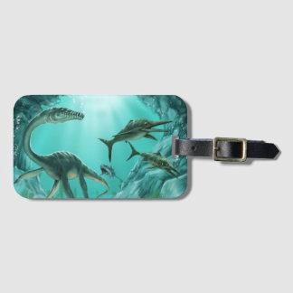 Etiqueta De Bagagem Tag subaquático da bagagem do dinossauro