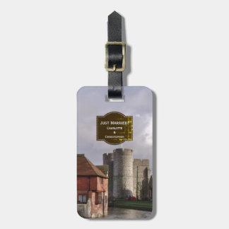Etiqueta De Bagagem Tag tormentoso da bagagem do castelo e do rio para