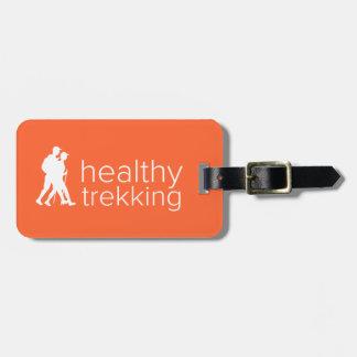 Etiqueta De Bagagem Tag Trekking saudável da bagagem da tangerina