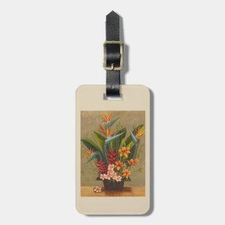 Etiqueta De Bagagem Tag tropical da bagagem das flores