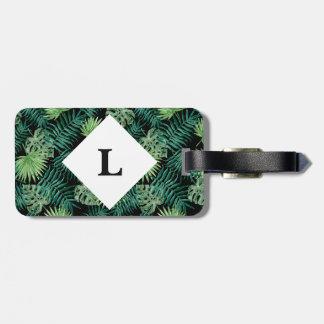 Etiqueta De Bagagem Tag tropical personalizado da bagagem das folhas
