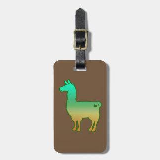 Etiqueta De Bagagem Tag tropical verde da bagagem do lama