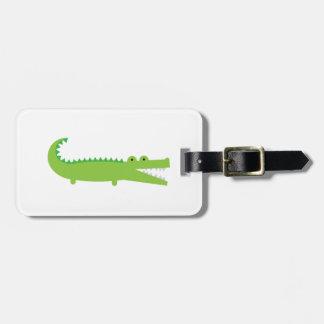 Etiqueta De Bagagem Tag verde da bagagem do jacaré
