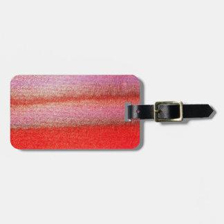 Etiqueta De Bagagem Tag vermelho abstrato da bagagem de Gorden com