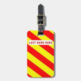 Etiqueta De Bagagem Tag vermelho & amarelo da bagagem