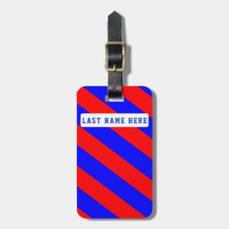 Etiqueta De Bagagem Tag vermelho & azul da bagagem