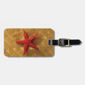 Etiqueta De Bagagem Tag vermelho da bagagem da estrela do mar