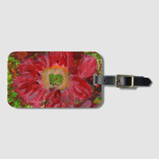 Etiqueta De Bagagem Tag vermelho grande da bagagem da flor