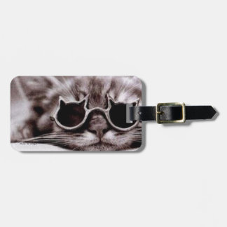 Etiqueta De Bagagem Tag vivo da bagagem do gato o mais fresco