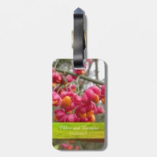 Etiqueta De Bagagem Tag Wedding personalizado do saco do eixo flores