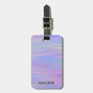 Etiqueta De Bagagem Tag Wispy personalizado da bagagem do arco-íris