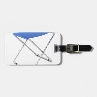 Etiqueta De Bagagem Tamborete de dobramento azul