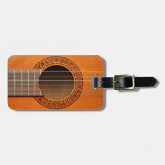 Etiqueta De Bagagem Tan clássico da laranja da guitarra