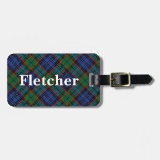Etiqueta De Bagagem Tartan velho de Fletcher do clã do Scotsman