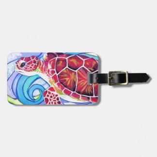 Etiqueta De Bagagem Tartaruga de Surfin
