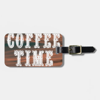 Etiqueta De Bagagem Tempo do café