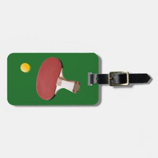 Etiqueta De Bagagem Ténis de mesa, etiqueta da bagagem do pong do