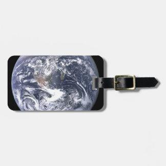Etiqueta De Bagagem Terra do planeta - nosso mundo